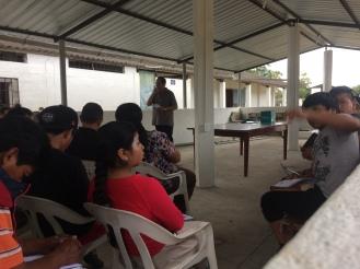 Pastor Patricio Teaching Evangelism.