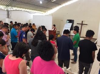 Pastor Paula teaching Herminutics.