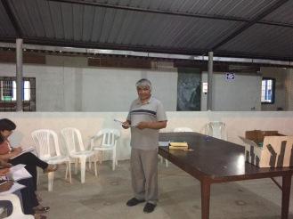 Pastor Rodrigo teaching Christian Ethics.