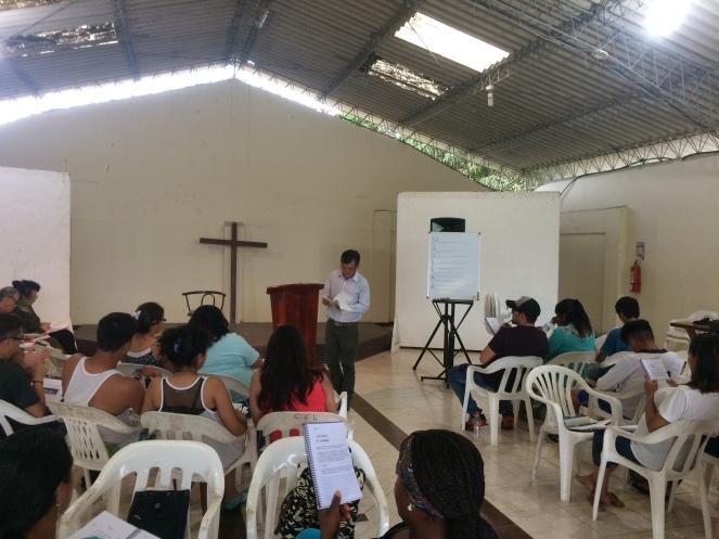 Pastor Jorge teaching Life Stewardship.